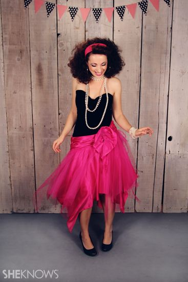 27 Easy Halloween Costumes You Can DIY This Year | 80s prom dress .