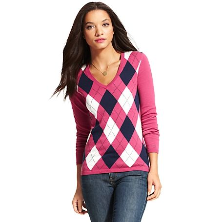 Tommy Hilfiger women's sweater. What we do best–the argyle .