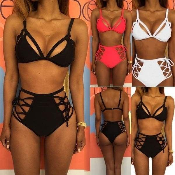 Sexy Bikinis for Women Halter Bathing Suits Strappy High Waisted .