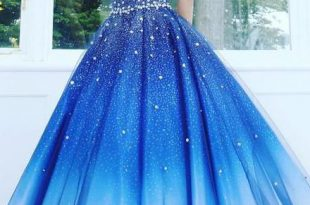 Chic Ombre Prom Dress Plus Size Beading African Prom Dress .