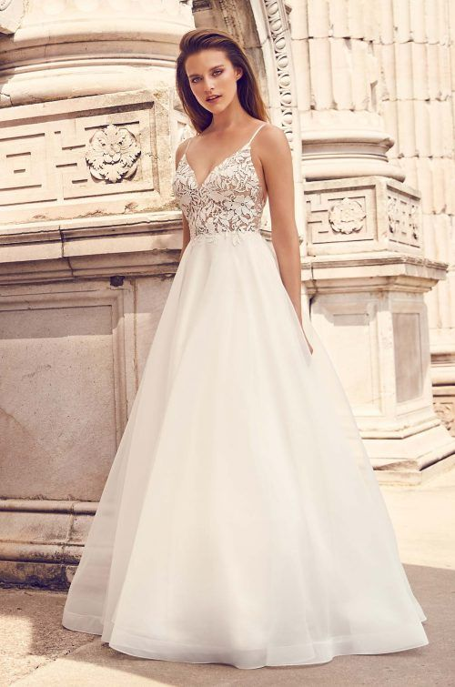 Romantic Lace Bodice Wedding Dress - Style #2225 in 2020 | Bodice .