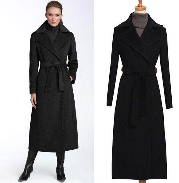 Choose long black coat as evergreen stylish wear | Coats for women .