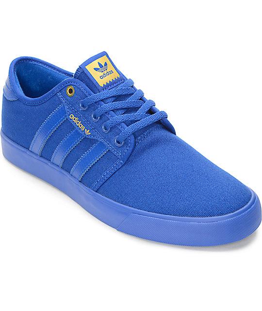 adidas Seeley Mono Royal Blue Shoes | Zumi