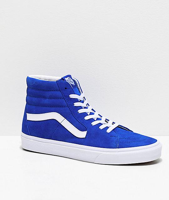 Vans Sk8-Hi Pig Princess Blue Skate Shoes | Zumi