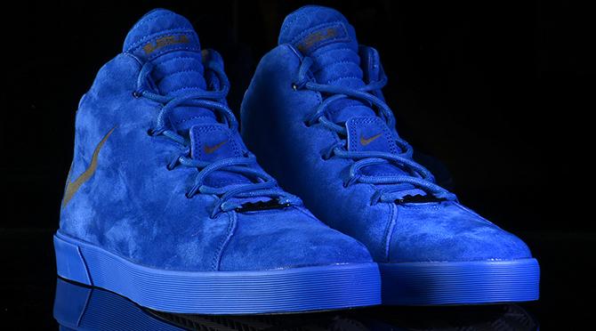 LeBron James' Blue Suede Shoes | Sole Collect