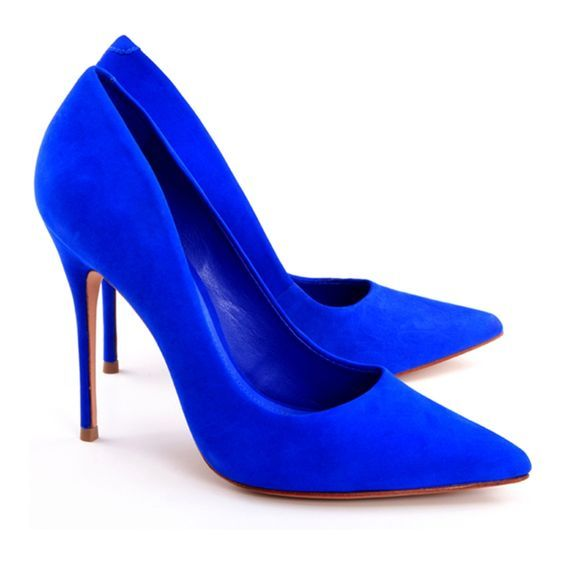 really, really blue shoes | Trendy high heels, Hee