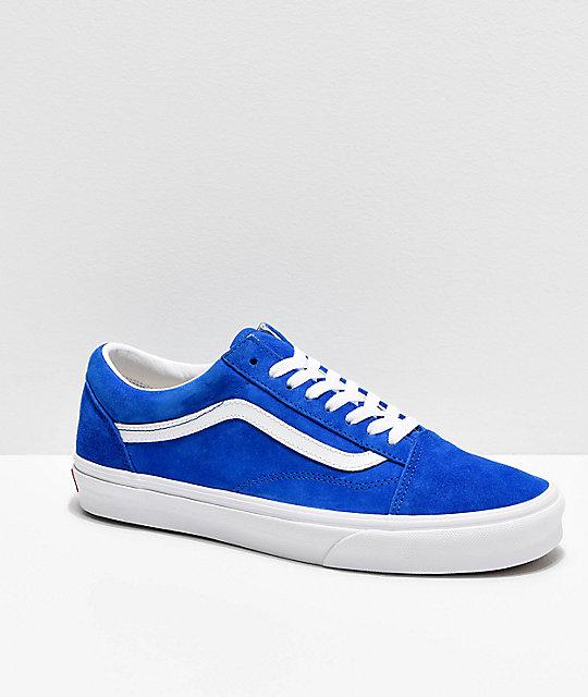 Vans Old Skool Pig Suede Princess Blue Skate Shoes | Zumi