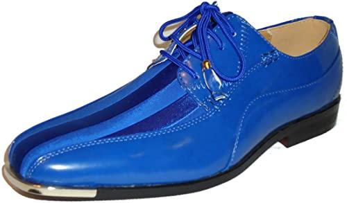 Amazon.com | Expressions 4925 Mens Royal Blue Satin Modern Formal .