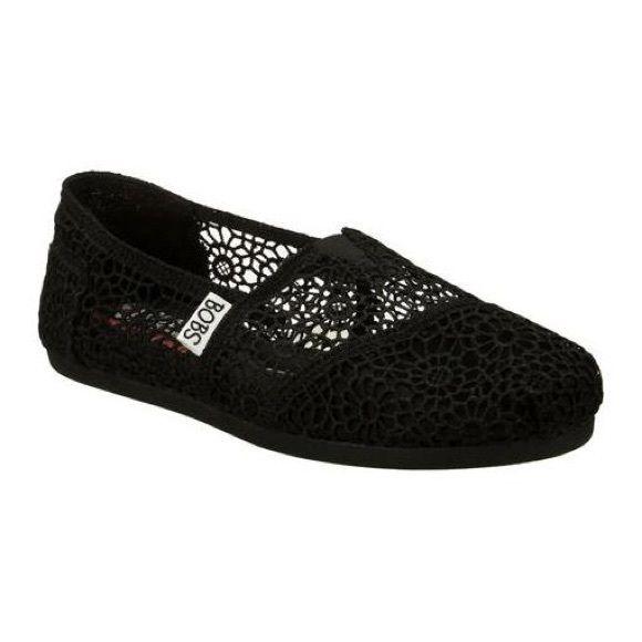 Black Crochet Lace Bobs Slip-Ons | Bob shoes, Women shoes .