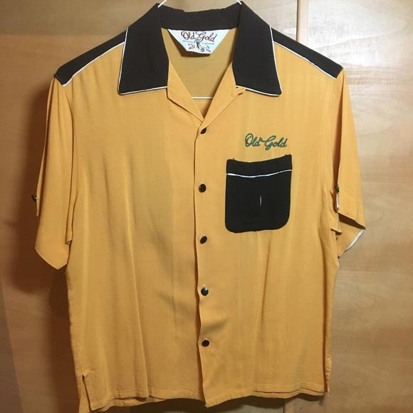 OLD GOLD Shirts | Vintage Original Bowling Shirt | Poshma