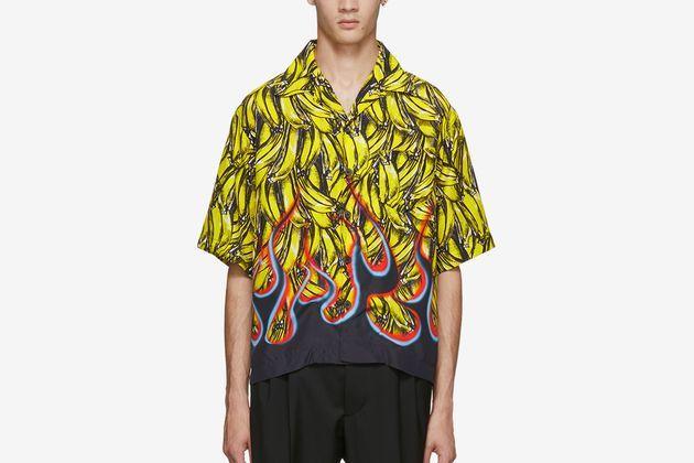 Luxe Graphic Bowling Shirts : Flame shir