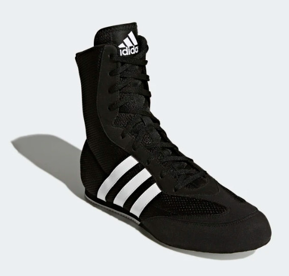 Adidas Boxing Shoes Black & White - BOXING AT THE DEP