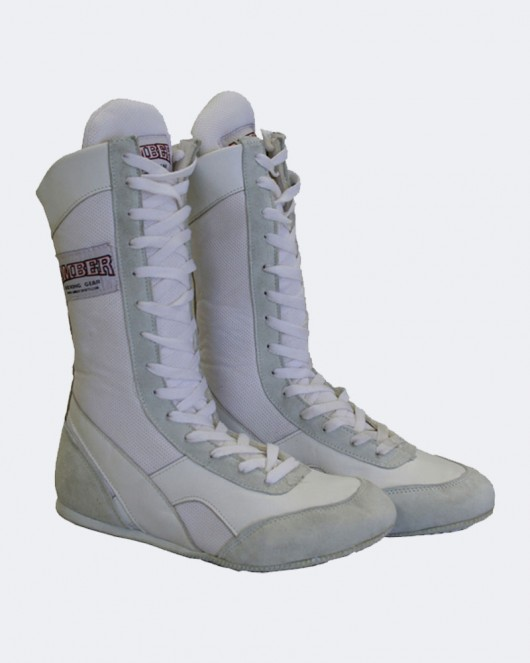 Amber Classic Boxing Shoes White | Competition Appar