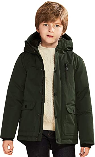 Amazon.com: SOLOCOTE Kids Boys Winter Coats Hooded Warm Thick .