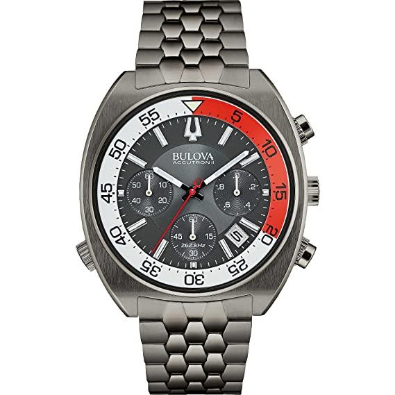 Watch Bulova Accutron II 98B253 Chrono Steel: Amazon.co.uk: Watch