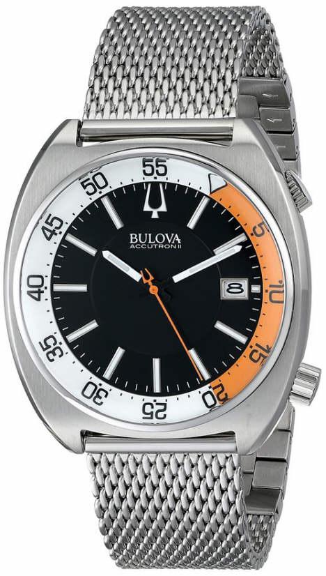 Men's Bulova Accutron II Steel Mesh Display Watch 96B2