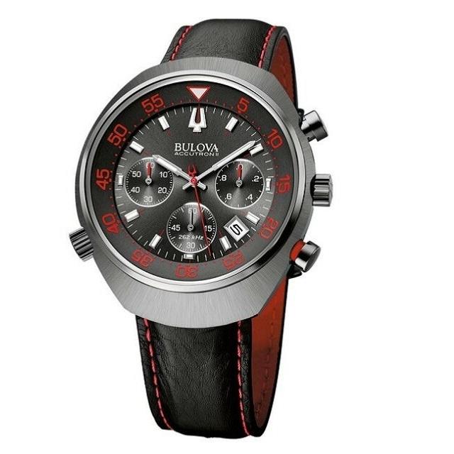 Bulova Accutron II Men's 98B252 UHF Lobster Chronograph Red .