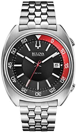 Buy Bulova 96B210 Men's Watchs BA11 Silver Steel Bracelet Watch .