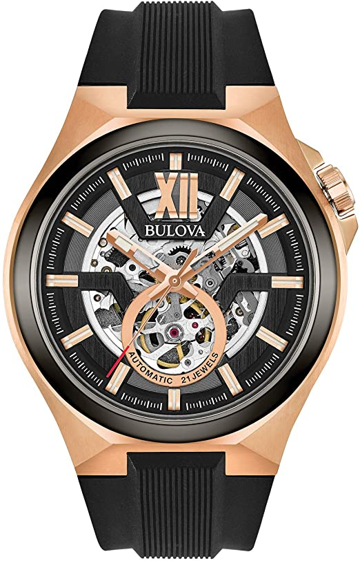 Amazon.com: Bulova Men's Stainless Steel Automatic-self-Wind Watch .