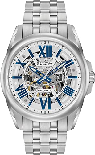 Amazon.com: Bulova Men's Mechanical-Hand-Wind Watch with Stainless .