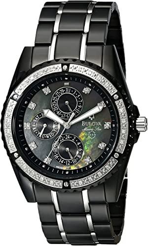 Amazon.com: Bulova Men's 98E003 Marine Star Diamond Accented Watch .