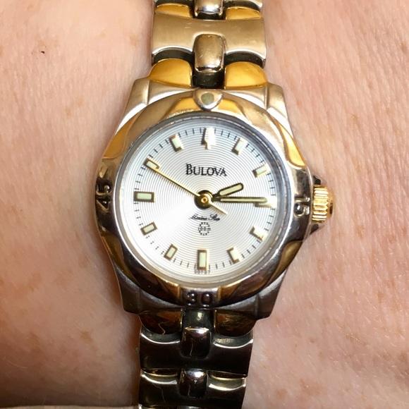 Bulova Accessories | Marine Star 2 Tone Ladies Watch | Poshma