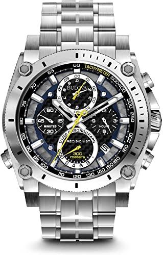 Amazon.com: Bulova Men's 96B175 Precisionist Stainless Steel Watch .