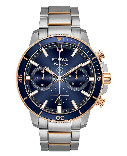 Bulova Men's Chronograph Marine Star Two-Tone Stainless Steel .