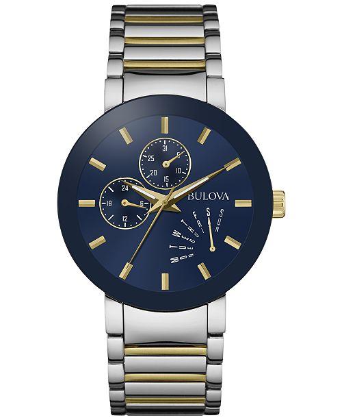 Bulova Men's Futuro Two-Tone Stainless Steel Bracelet Watch 40mm .