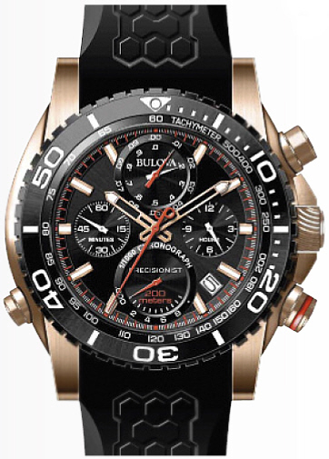 Men's Bulova Precisionist Chronograph Watch 98B2