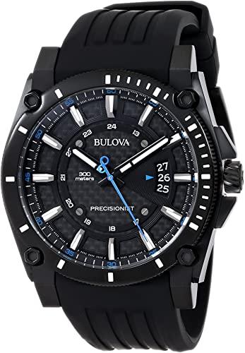 Amazon.com: Bulova Men's 98B142 Precisionist Black Stainless Steel .