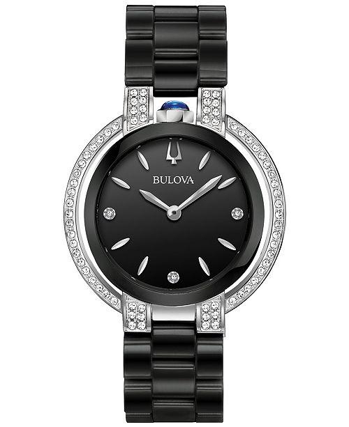 Bulova Women's Diamond (1/3 ct. t.w.) Rubaiyat Stainless Steel .