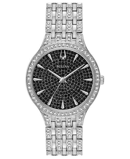 Bulova Women's Phantom Stainless Steel & Crystal-Accent Bracelet .