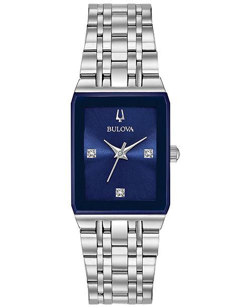 Bulova Women's Futuro Diamond-Accent Stainless Steel Bracelet .