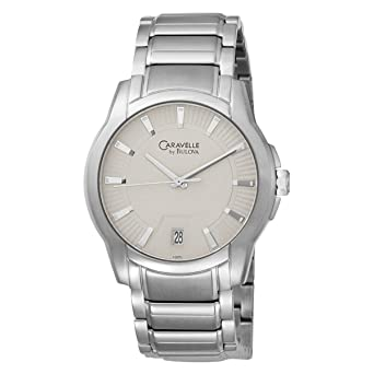 Buy Caravelle by Bulova Men's 43B113 Silver and Gray Dial .