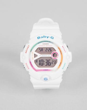 Casio Baby G White Rainbow Digital Watch   Baby g shock watches .