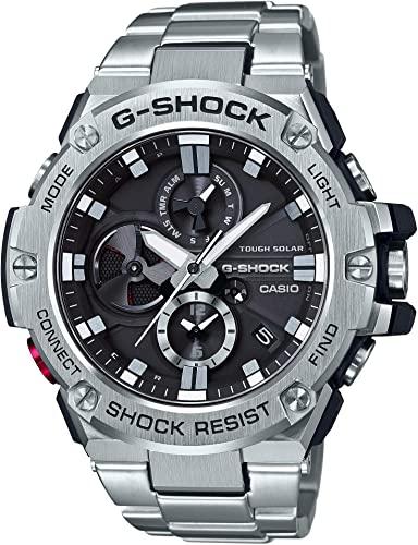 Amazon.com: Casio Men's G-Steel by G-Shock Quartz Solar Bluetooth .