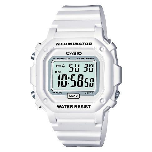 Casio Women's Digital Watch - White (F108WHC-7BCF) : Targ