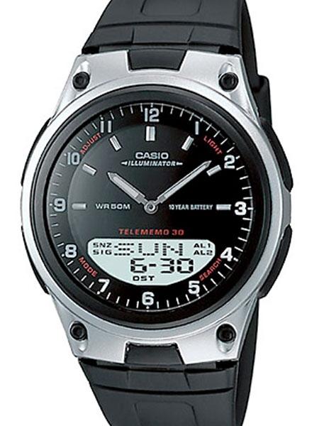 Casio Sports Analog-Digital Dual Time Watch with World Time #AW-80-1