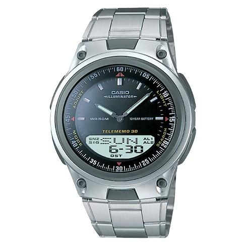 Men's Casio Analog And Digital Bracelet Watch - Black (AW80D-1AV .