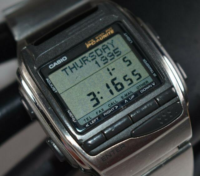 RARE Casio Vintage Digital Watch PC Link Infra Red Hbx-100 BIZX .