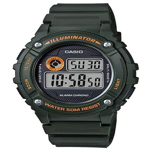 Men's Casio Digital Watch - Green : Targ