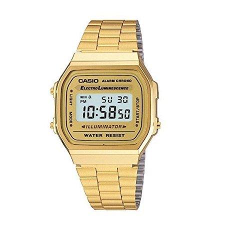 Casio - Casio Men's 'Vintage' Digital Illuminator Gold-Tone .