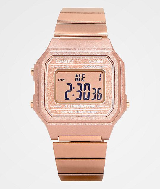 Casio B650WC-5AVT Vintage Rose Gold Digital Watch | Zumi
