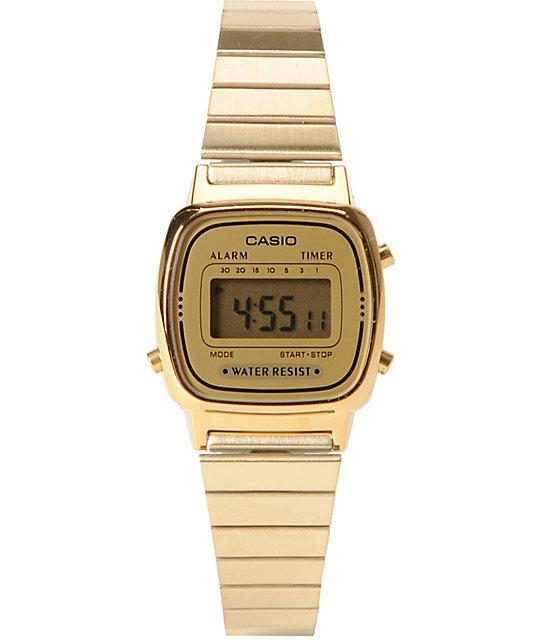 Casio LA670WGA-1DF Small Classic Vintage Gold Watch | Zumi