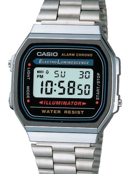 Casio Illuminator Mens Digital Alarm Watch on Stainless Steel .