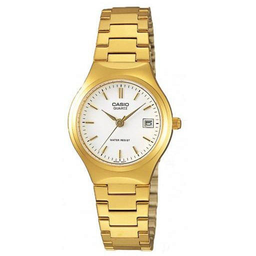 Shop Casio Women's LTP-1170N-7A 'Classic' Gold-Tone Stainless .