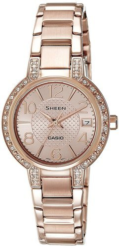 She-4804pg-9audr (sx130) Casio Copper Sheen Analog Rose Gold Dial .