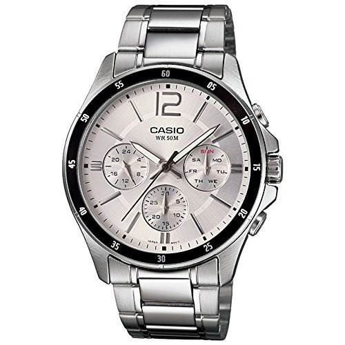 Silver Casio Enticer Chronograph White Dial Mens Watch, Rs 4295 .