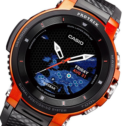 BUY Casio ProTrek GPS Dual layer display Smart Watch WSD-F30-RG .